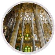 La Sagrada Familia Iv Round Beach Towel