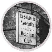 La Solidarite Association Belgium Club Round Beach Towel