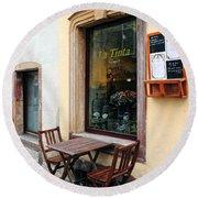La Tinta Cafe Round Beach Towel