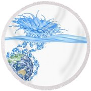 Le Toilette Round Beach Towel
