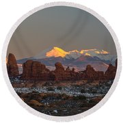 La Turret Round Beach Towel