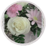Lace Framed Mothers Day Round Beach Towel