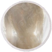 Lace Upon Lace Round Beach Towel