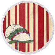 Ladies Hat, From Les Robes De Paul Round Beach Towel