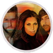 Lady Antebellum Round Beach Towel
