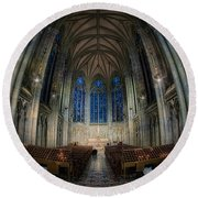 Lady Chapel At St Patrick's Catheral Round Beach Towel