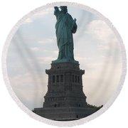 Lady Liberty Round Beach Towel
