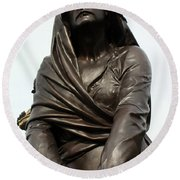 Lady Macbeth In Stratford Out Damned Spot  Round Beach Towel by Terri Waters