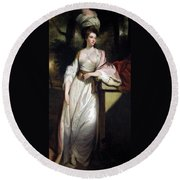 Lady Mary Isabella Somerset Round Beach Towel by Robert Smirke