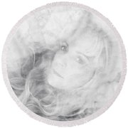 Lady Of The Clouds Round Beach Towel