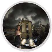 Lady Of The Night Round Beach Towel by Nathan Wright