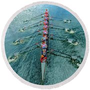 Lady Scullers Round Beach Towel