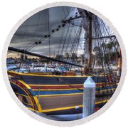 Lady Washington Round Beach Towel by Heidi Smith
