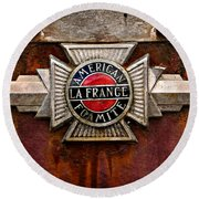 Lafrance Badge Round Beach Towel