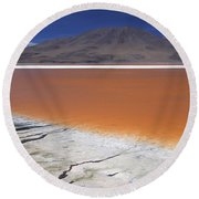 Laguna Colorada, Altiplano Bolivia Round Beach Towel