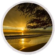 Lahaina Sun Burst Round Beach Towel