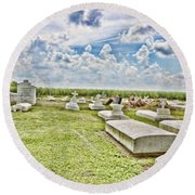 Laid To Rest Round Beach Towel