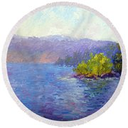 Lake Arrowhead Round Beach Towel