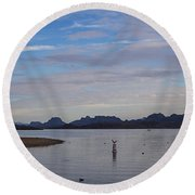 Lake Beach Round Beach Towel