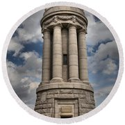 Lake Champlain Lighthouse Round Beach Towel