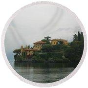 Lake Como No. 1 Round Beach Towel