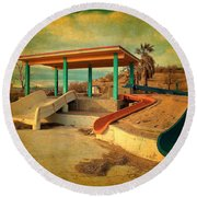 Lake Delores Water Park 2 Round Beach Towel