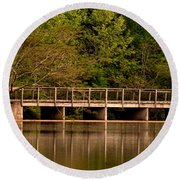 Lake Forest Bridge Round Beach Towel