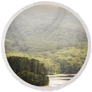 Lake Forest Round Beach Towel