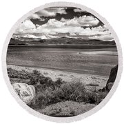 Lake Granby Round Beach Towel