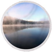 Lake In October Round Beach Towel