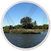 Lake Kirsty At Tifft Nature Preserve Buffalo New York Round Beach Towel