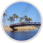 Lake Las Vegas Round Beach Towel