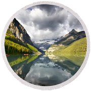 Lake Louise Banff National Park Round Beach Towel