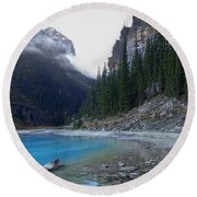 Lake Louise North Shore - Canada Rockies Round Beach Towel