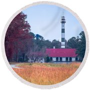 Lake Mattamuskeet Pumping Station Round Beach Towel