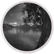 Lake Mcdonald In The Spring Round Beach Towel