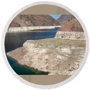 Lake Mead In 2000 Round Beach Towel