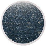 Lake Michigan Sparkling Water Round Beach Towel