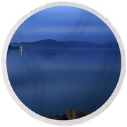 Lake Night View Round Beach Towel
