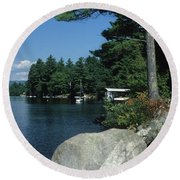 Lake Norway 07 Round Beach Towel