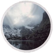 Lake Of Glass Round Beach Towel by Eric Glaser