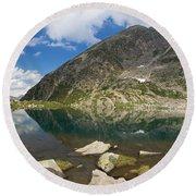 Lake Piccolo - Val Di Sole Round Beach Towel