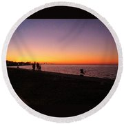 Lake Pontchartrain Sunset Round Beach Towel