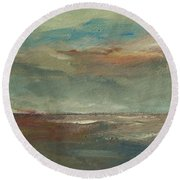 Lake Pontchartrain Sunset Round Beach Towel