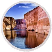Lake Powell Antelope Canyon Round Beach Towel