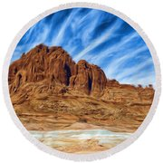 Lake Powell Rocks Round Beach Towel by Ayse Deniz