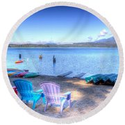 Lake Quinault Dream Round Beach Towel