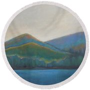 Lake Shore  Round Beach Towel