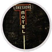 Lake Shore Motel Round Beach Towel