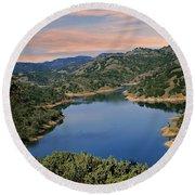 Lake Sonoma - California Round Beach Towel